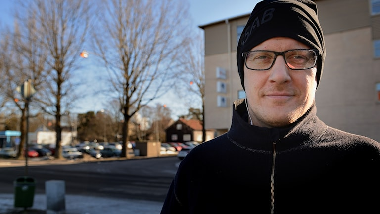 Markus Lehtikevari, pappa till dotter med modersmålsundervisning i finska i Oxelösund.