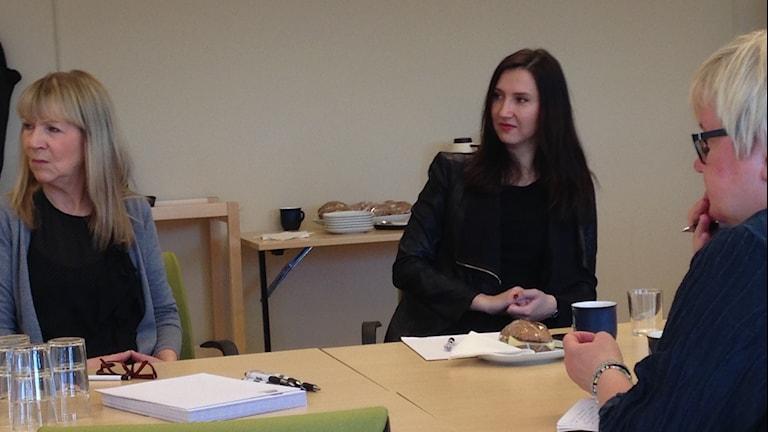 Gymnasie och kunskapsministern Aida Hazialic på st Eskil gymnaiset.