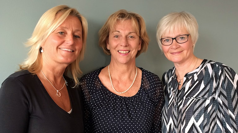 Carina Hansson (mamma), Lotta von Unge och Monica Berzen diabetessamordnare.