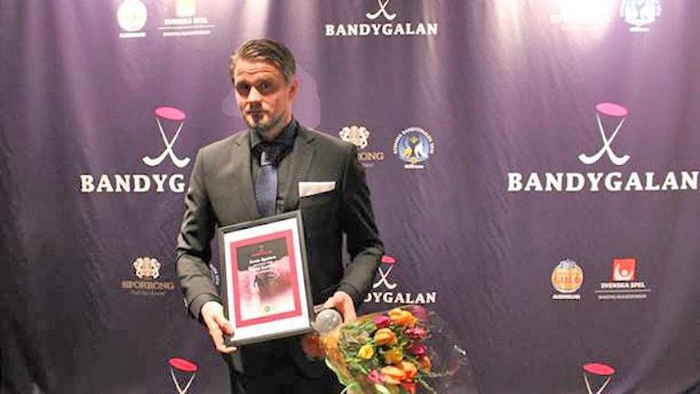 Den gångna säsongen blev David Karlsson historisk när han slog Jonas Claessons gamla målrekord. Foto: Andreas Johnsson/Sveriges Radio.