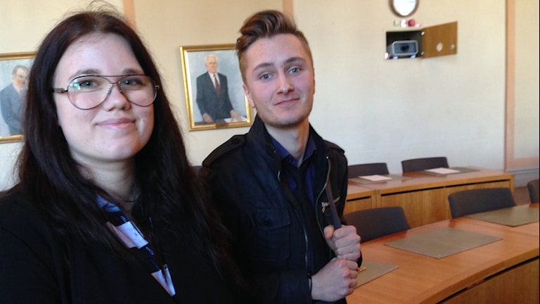 Emma Birgersson, Carl Backman. Foto: Ludvig Drevfjäll/Sveriges Radio