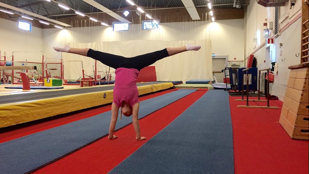 Gymnasten Emma Larsson.