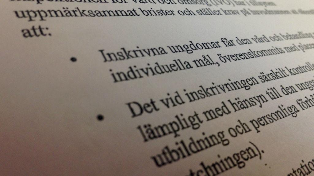 Hård kritik i beslutet. Foto: Ludvig Drevfjäll/SR Sörmland
