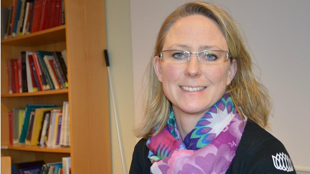 Patricia Thell är tolk på Landstinget Sörmlands tolkcentral.