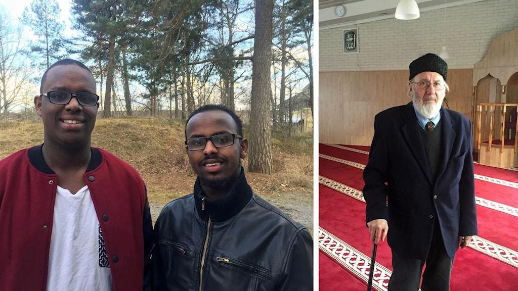 Ibrahim Sabrie och Ali Mohammed ochAbd al Haqq Kielan