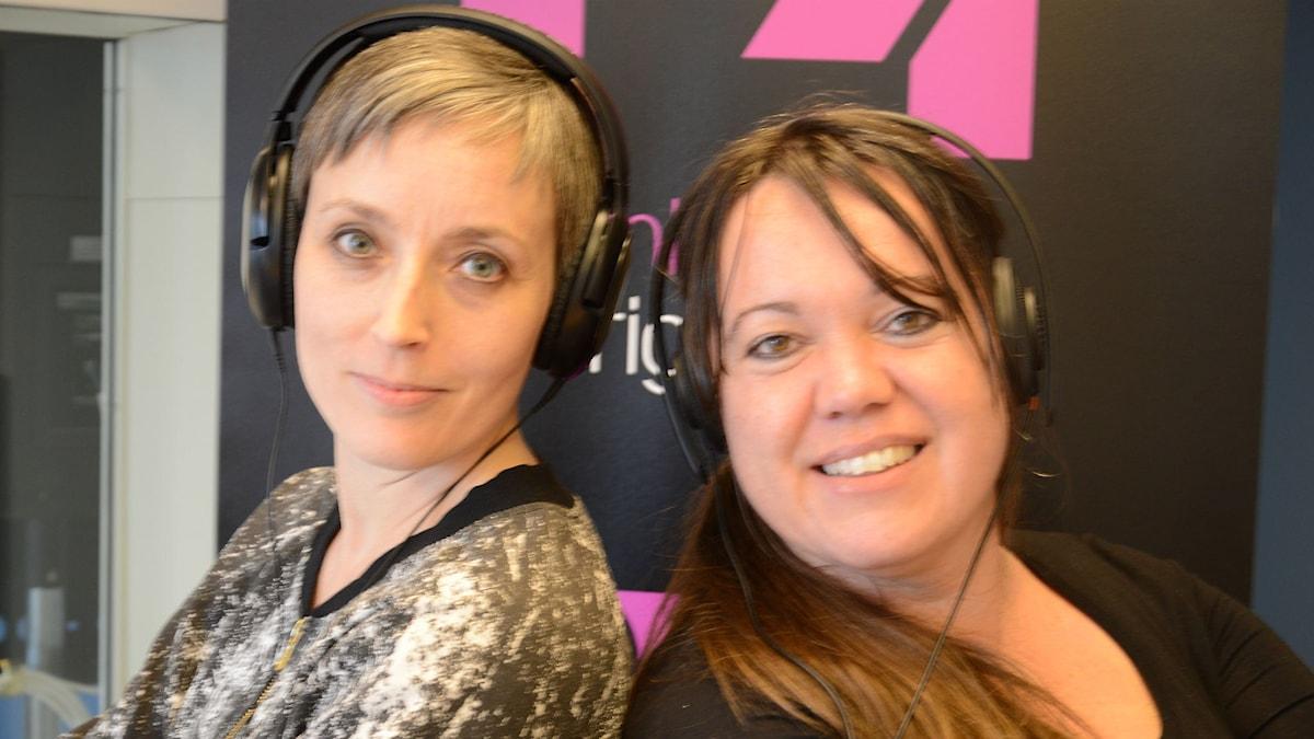 Anna Frölander och Annica Edwall i Nyköpingsstudion.