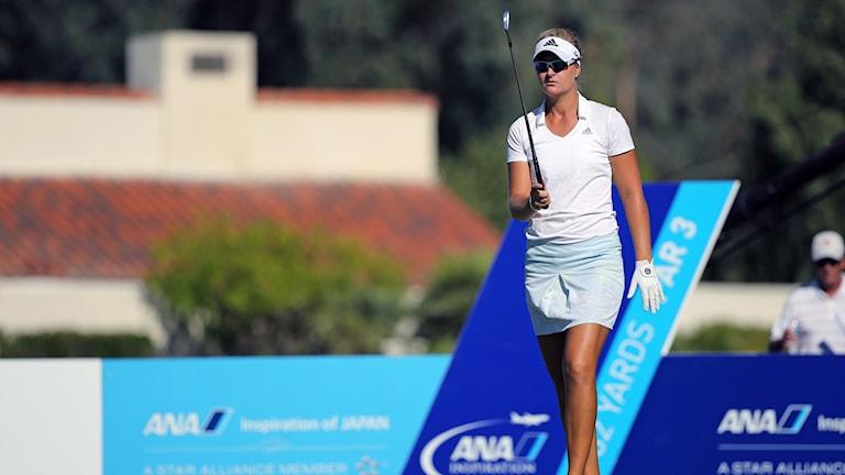 Svenskan Anna Nordqvist under rond 2 av ANA Inspiration på Mission Hills CC på LPGA-tour. Foto: Göran Söderqvist/TT.
