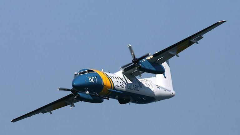Ett av Kustbevakningens spaningsflygplan. Foto: Kustbevakningen.