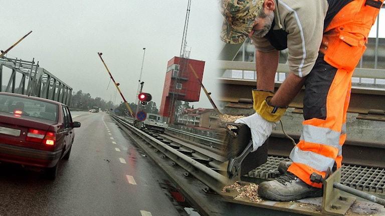 Kvicksundsbron repareras