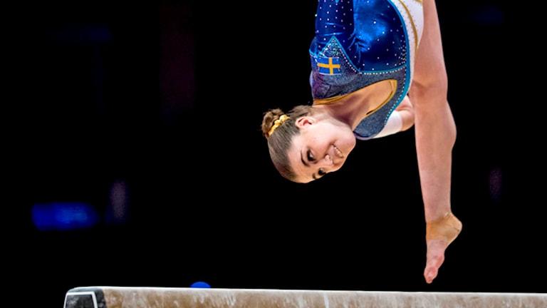 Ece Ayan från Eskilstuna gymnastikförening slutade tvåa vid SM.