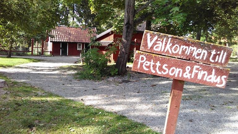 Pettson och Findus hus vid Julita gård.