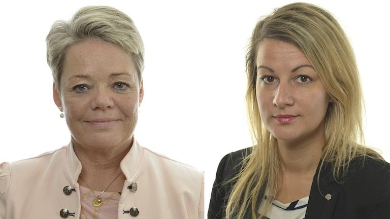 Lotta Finstorp och Sara Karlsson