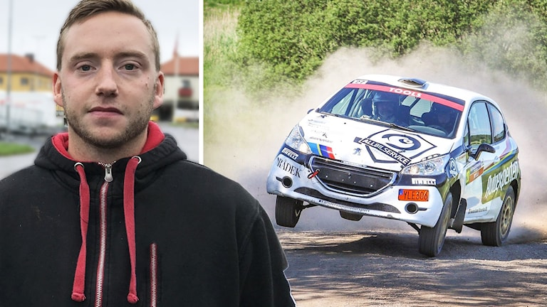 Robert Andersson ihopklippt med rallybild