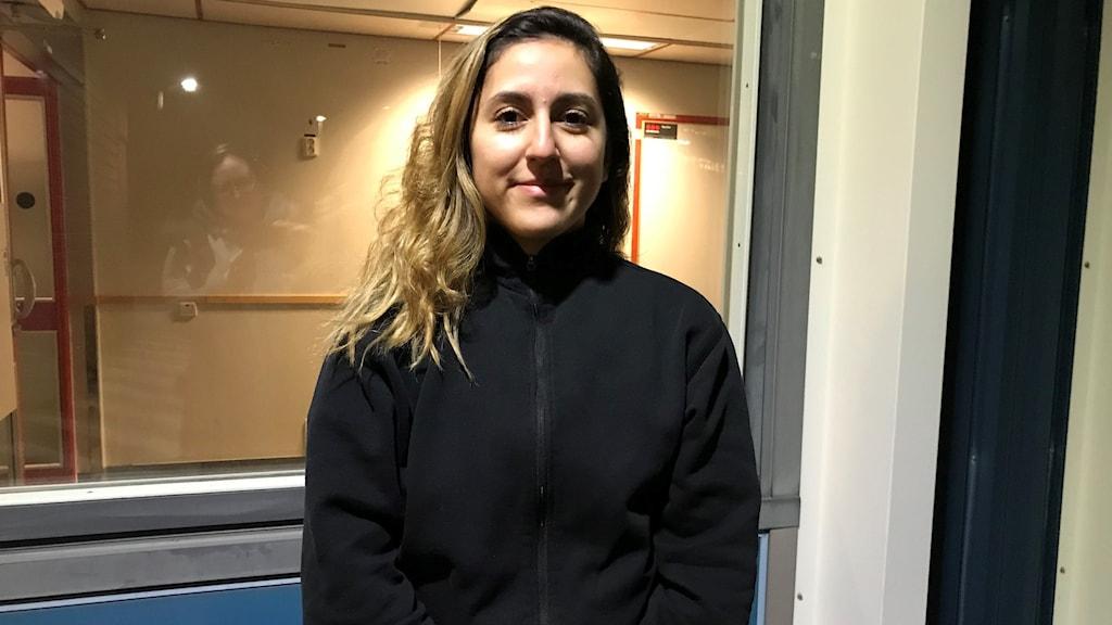 Kimberly Escobar lokalvårdare på Mälarsjukhuset.