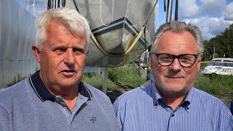 Christer Albertsson, ordf, och Mats Håkansson, styrelseledamot, Torshälla segelsällskap.