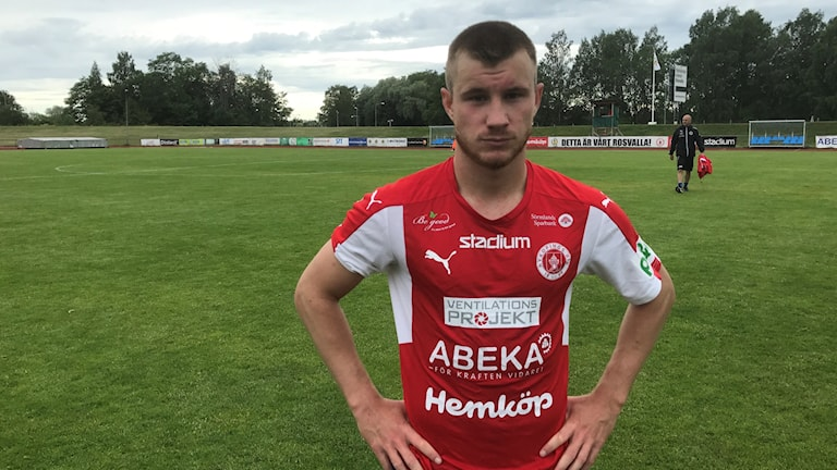 Oscar Karlsson  Nyköpings BIS som gjorde 2-0 målet mot Assyriska.