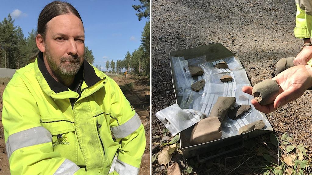 Andreas Forsgren, arkeolog och kulturarvspedagog. Stiftelsen Kulturmiljövård