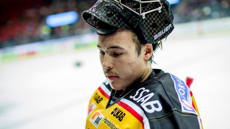 Samuel Ward, i Luleås tröja. Foto: Adam Ihse/TT.