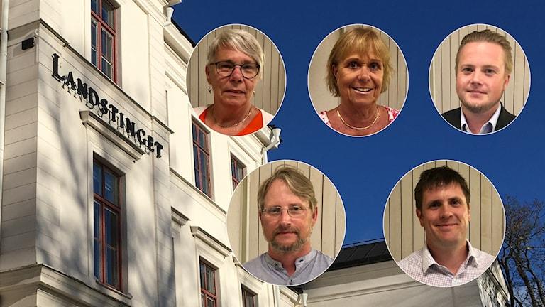 Monica Johansson (S), Ewa Callhammar (L), Anton Berglund (SD), Jonas Lindeberg (Vfp) och Magnus Leivik (M).
