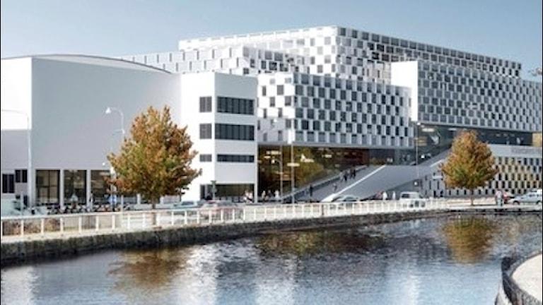 Högskolans campus i Eskilstuna, enligt arkitekterna.