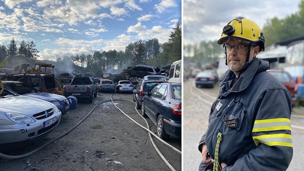 Rickard Stavem styrkeledare Strängnäs räddningstjänst.