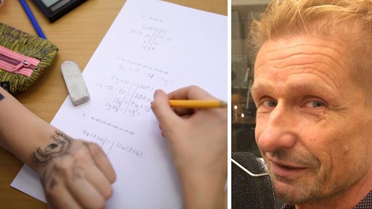 En elev och Hans Ringström.