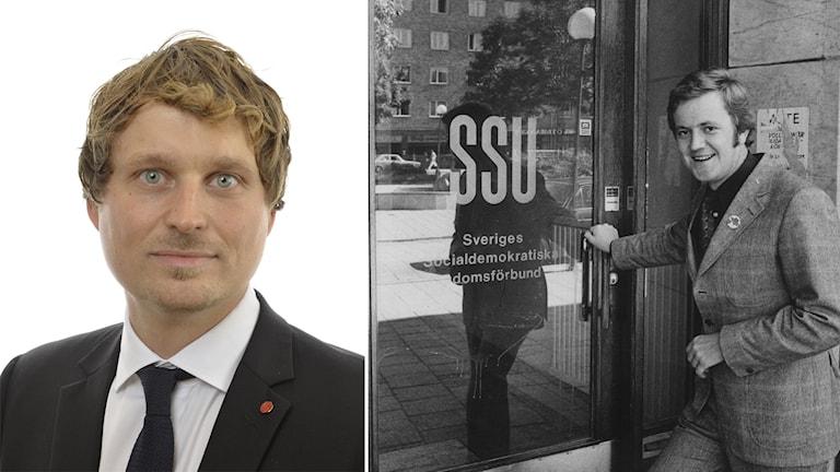 Tidigare socialministern Lars Engqvist var SSU-ordförande i början av 70-talet. Till vänster Mattias Vepsä, tidigare SSU-medlem från Sörmland.