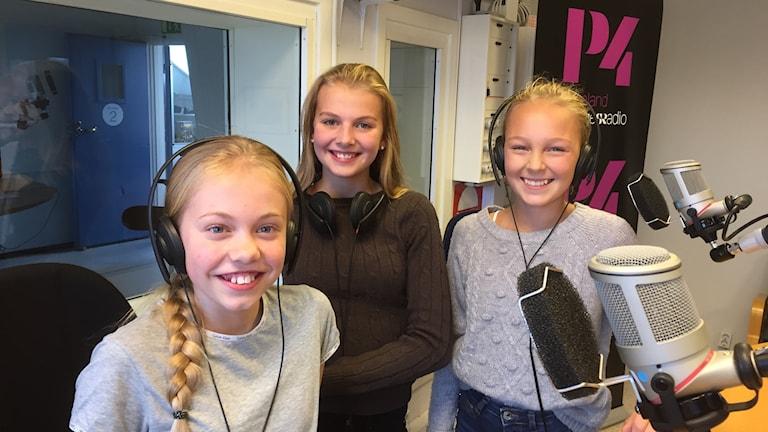 Vera Saltell, Johanna Eckerdal, Tilda Edman, Mediakollare.