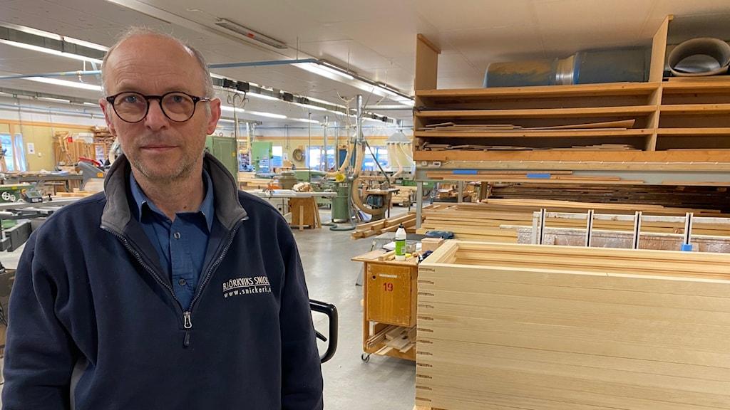 Aksel Primdahl driver Björkviks snickeri.