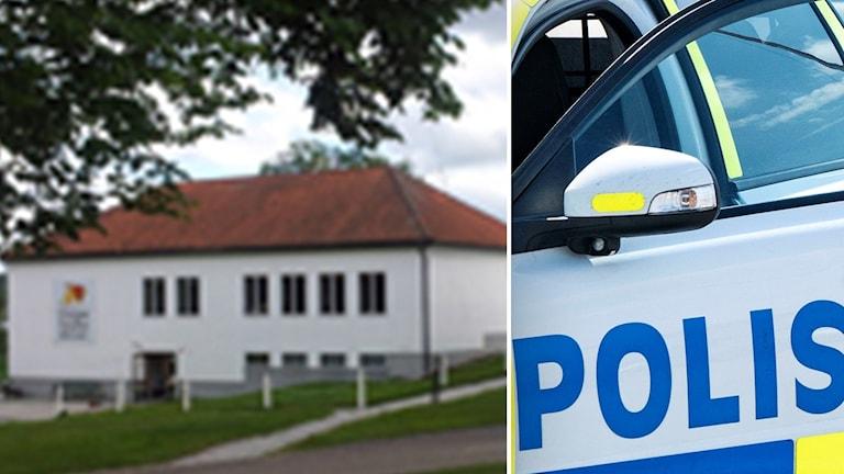 Gripsholmsskolan ihopklippt med polisbil