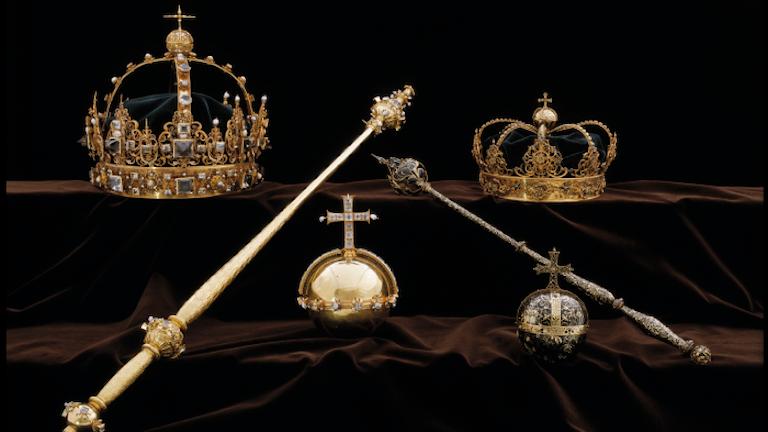 Karl IX:s begravningsregalier i Strängnäs.