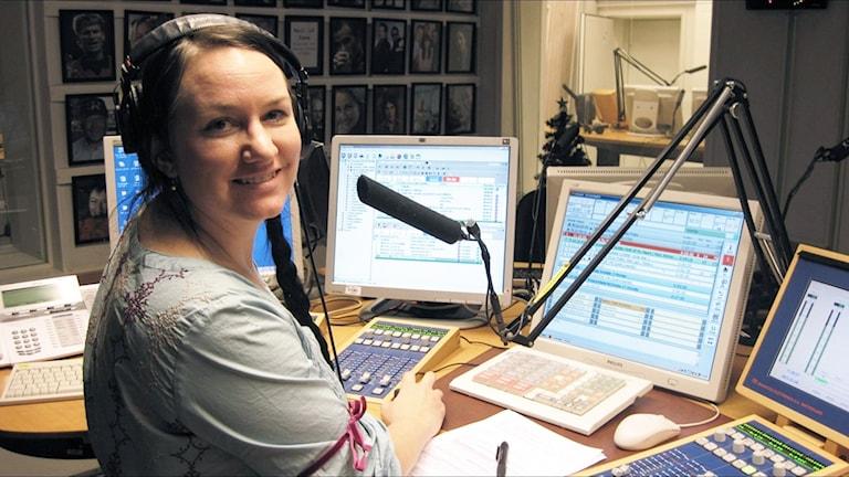 Johanna Iggsten i studio.