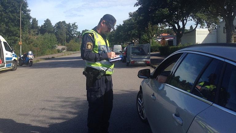 Under onsdagen skrevs böter i Eskilstuna. Foto: Linnéa Wannefors/Sveriges Radio.