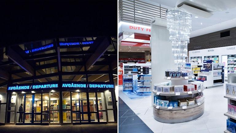 Skavsta flygplats och parfym vid tax-free