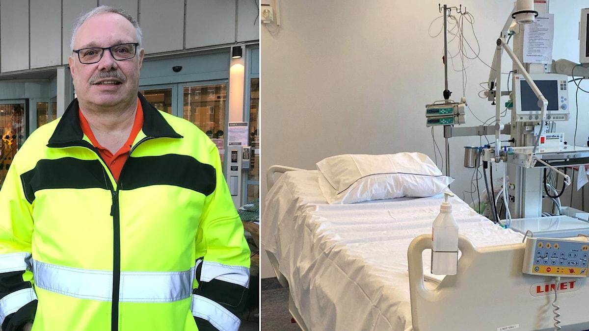 Leif Hildenborg, servicetekniker på Mälarsjukhuset.