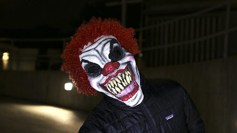 Clown med skrämmande utseende Foto:  Ruud, Vidar/NTB scanpix /TT