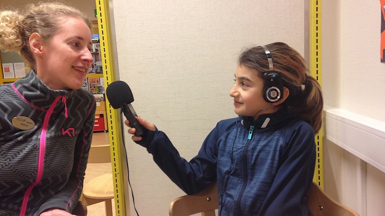 Haiyat Hussein intervjuar läraren Maria Palmberg