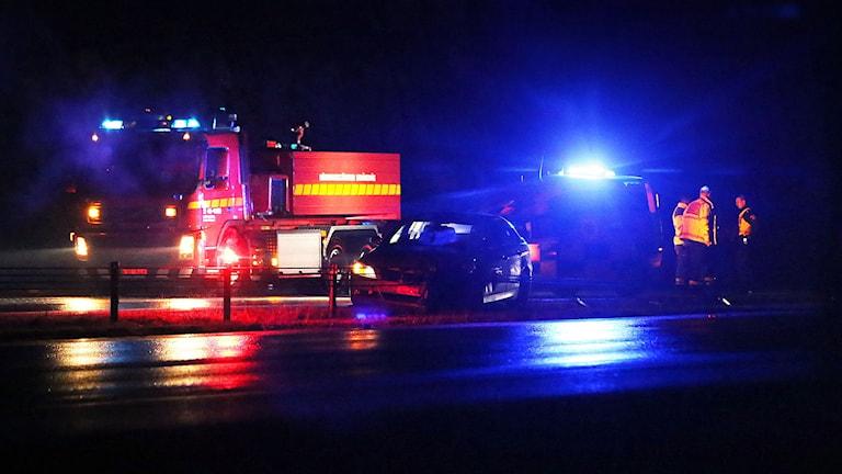 Bilolycka vid Barva.