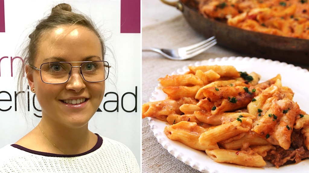 Angelica Ulander och pasta
