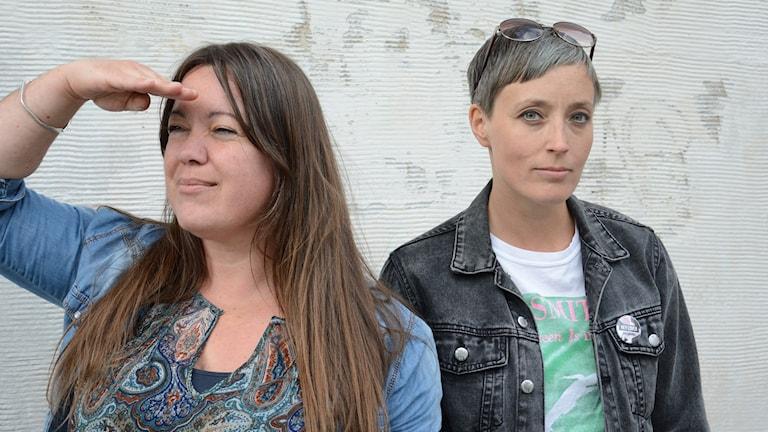 Annica Edwall och Anna Frölander.