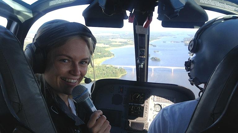 Linnea åker helikopter