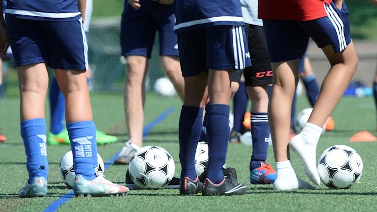 Föttern på fotbollsplan