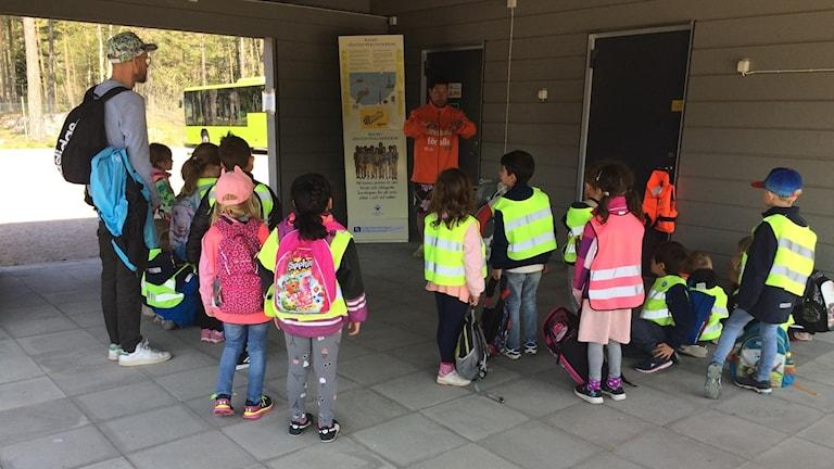 Säkerhetsdagar i skolan för sexåringar i Nyköping