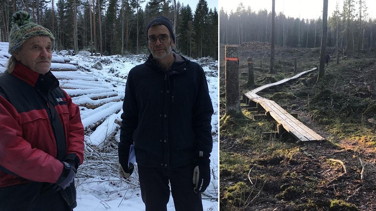 Bo Karlsson och Mårten Medbo från Naturskyddsföreningen i Katrineholm.