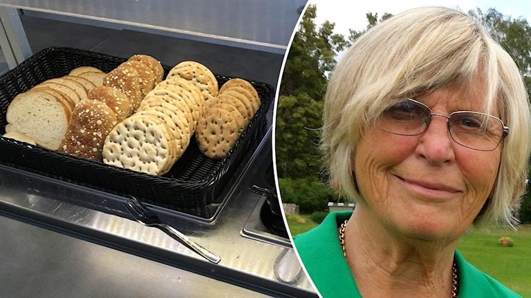 Ing-Mari Frössevi med frukost inklippt.