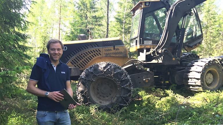Martin Strandberg är virkesområdeschef på Mellanskog.