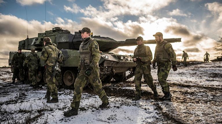 Pansarvagn med soldater