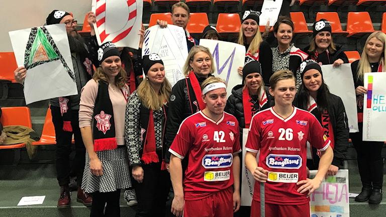 Olle Abrahamsson och Adam Wastesson efter segern mot Täby.
