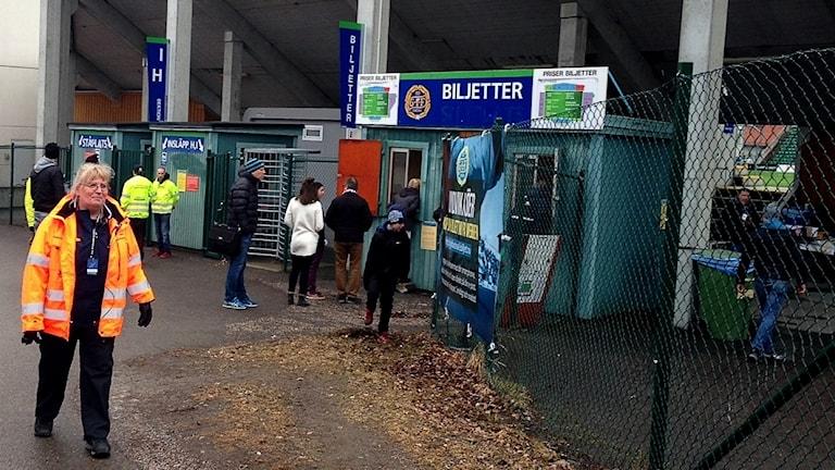 Fotbollsarenan i Sundsvall inför AFC Eskilstunas allsvenska premiärmatch