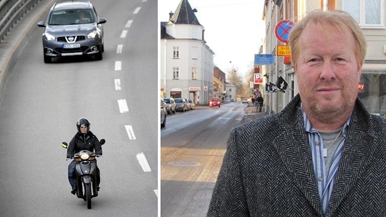 Moped, bil och Lars Nordqvist